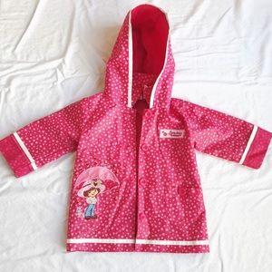 Other - Strawberry Shortcake Pink Polkadot Raincoat 2T